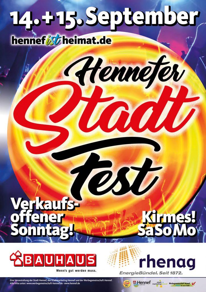 Plakat Stadtfest Hennef