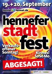 Stadtfest Hennef 2020 abgesagt